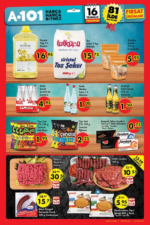 16 Temmuz A101 Aktüel Ürünler Katalogu - Toz Şeker