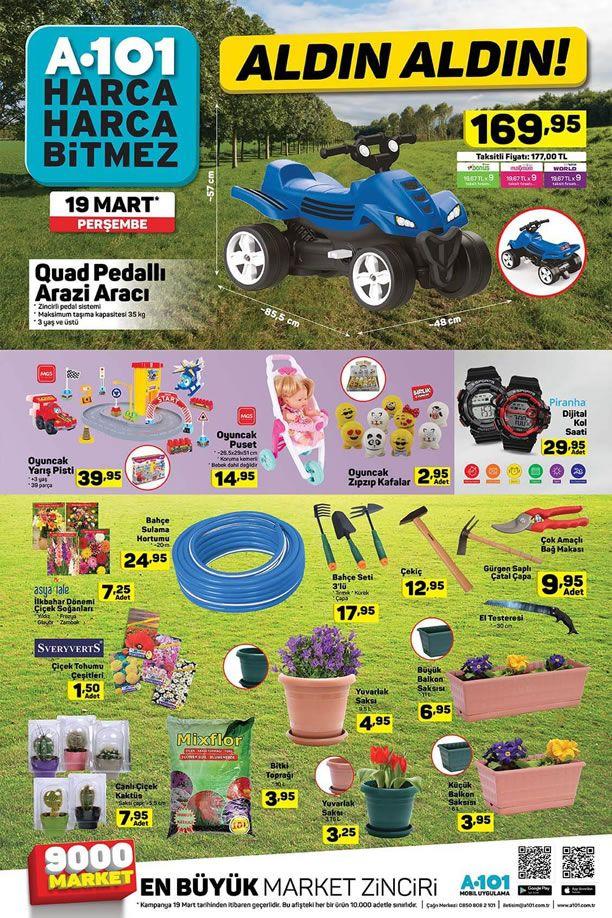 19 Mart A101 Aktüel Ürünler Kataloğu - Quad Pedallı Arazi Aracı