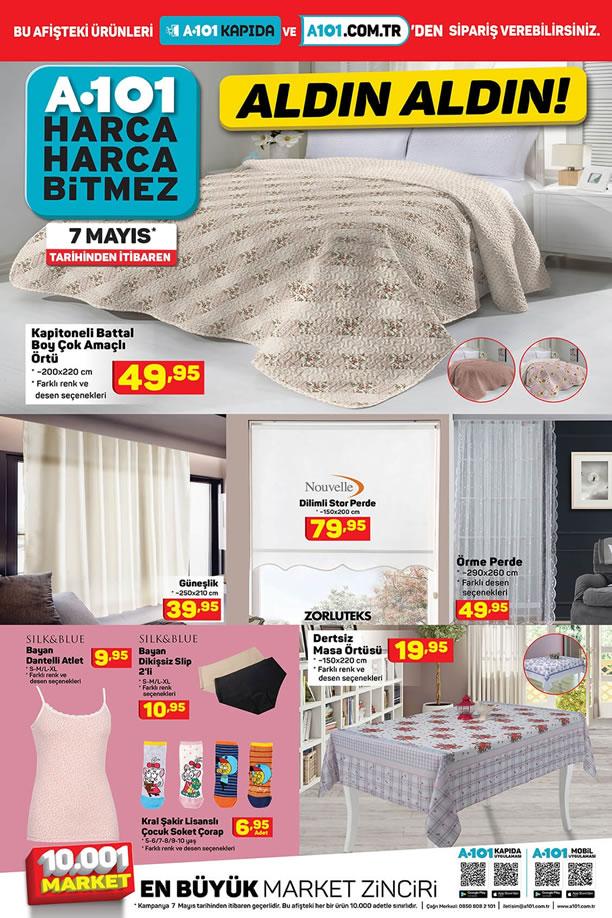 7 Mayıs 2021 Salı A101 Aktüel Kataloğu - Ev Tekstili Ürünleri