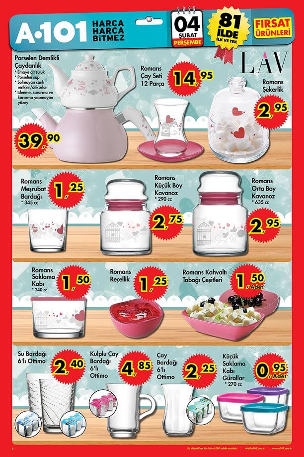 A101 04.02.2016 Aktüel Ürünler Katalogu - LAV Porselen Çaydanlık