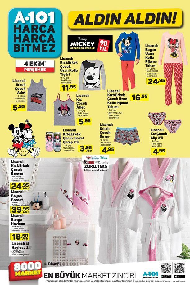 A101 04.10.2018 Perşembe Kataloğu - Lisanslı Çocuk Giyim