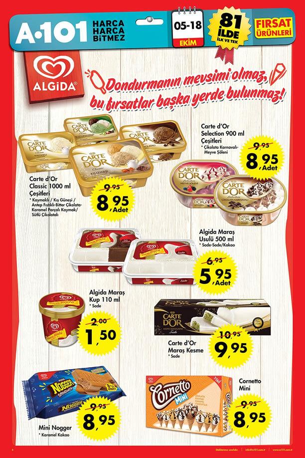 A101 05-18 Ekim 2015 Dondurma Fiyatları - Algida