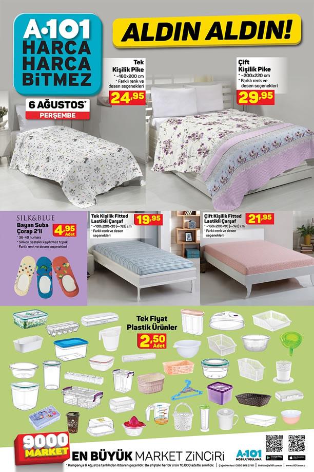A101 06.08.2020 Aktüel Kataloğu - Ev Tekstili Ürünleri