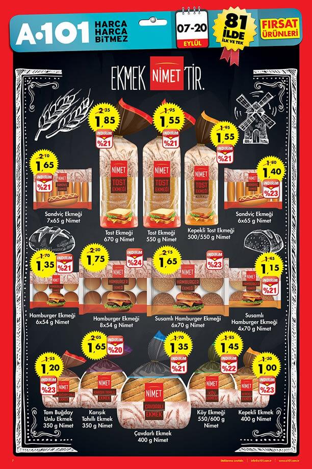 A101 07-20 Eylül 2015 Aktüel Ürünler Katalogu - Nimet Ekmek