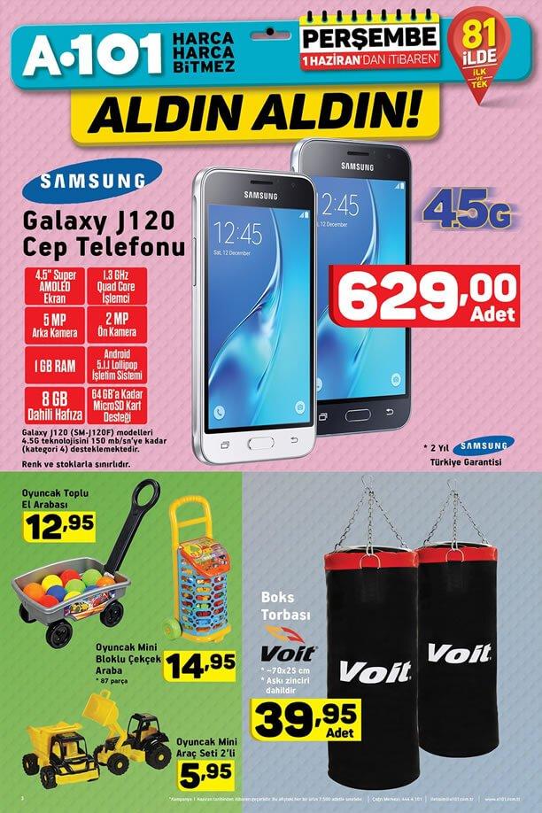 A101 1 Haziran 2017 Katalogu - Samsung Galaxy J120