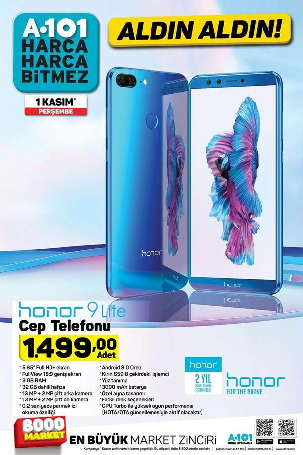 A101 1 Kasım 2018 Kataloğu - Honor 9 Lite Cep Telefonu