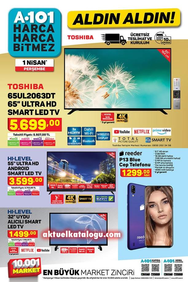 A101 1 Nisan 2021 Kataloğu - Toshiba Ultra HD Smart Led Tv