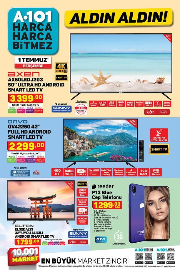 A101 1 Temmuz 2021 Kataloğu - Android Smart Led Tv