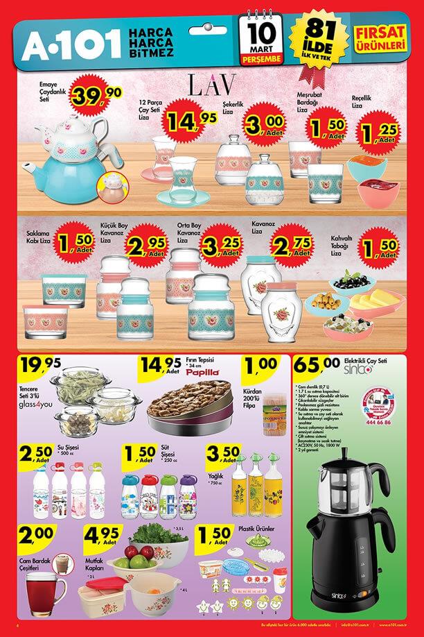 A101 10-16 Mart 2016 Aktüel Ürünler Katalogu - LAV Liza