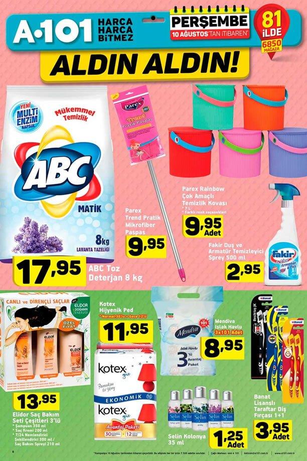 A101 10 Ağustos - ABC Toz Deterjan
