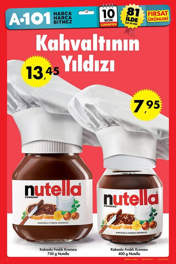 A101 10 Ekim 2015 Aktüel Ürünler Katalogu - Nutella