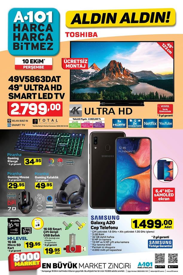 A101 10 Ekim 2019 Kataloğu - Piranha Gaming Klavye
