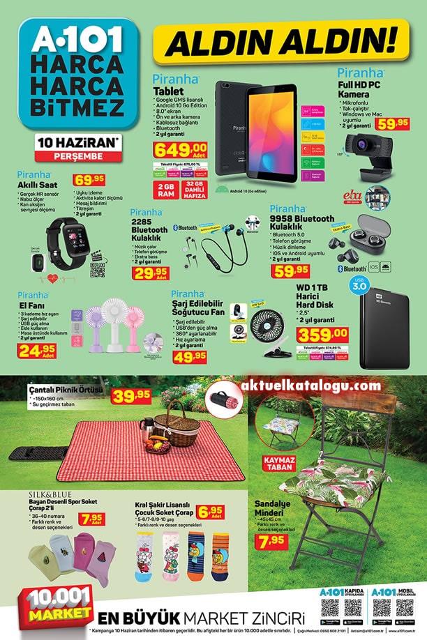 A101 10 Haziran 2021 Kampanyası - Piranha Tablet