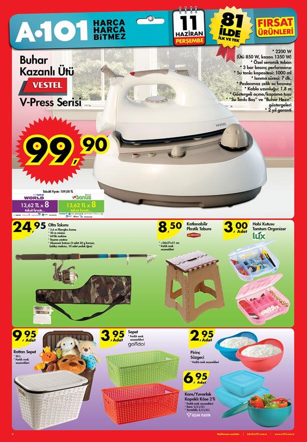 A101 11.06.2015 Aktüel Ürünler Katalogu - Vestel V-Press Ütü