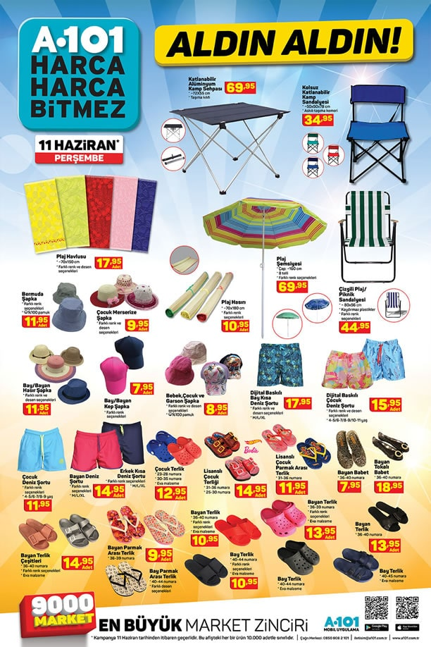 A101 11 - 17 Haziran 2020 Kataloğu - Plaj Şemsiyesi