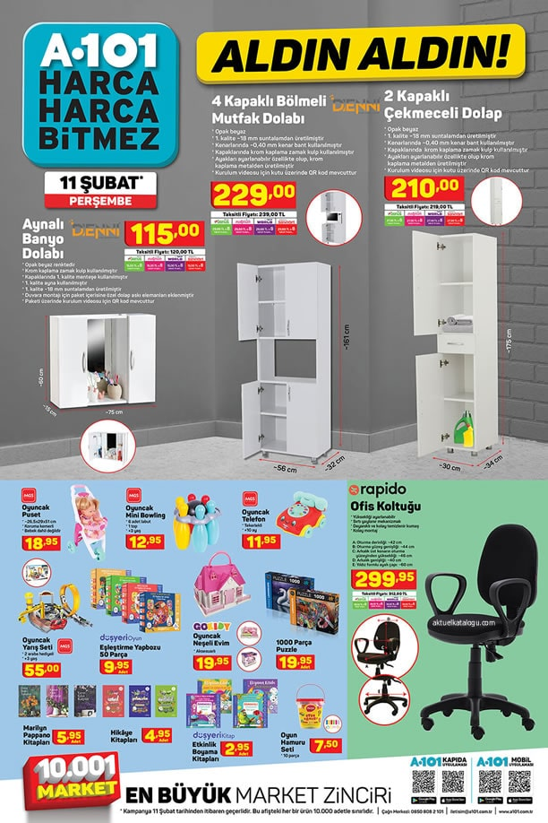 A101 11 - 17 Şubat 2021 Kataloğu - Aynalı Banyo Dolabı