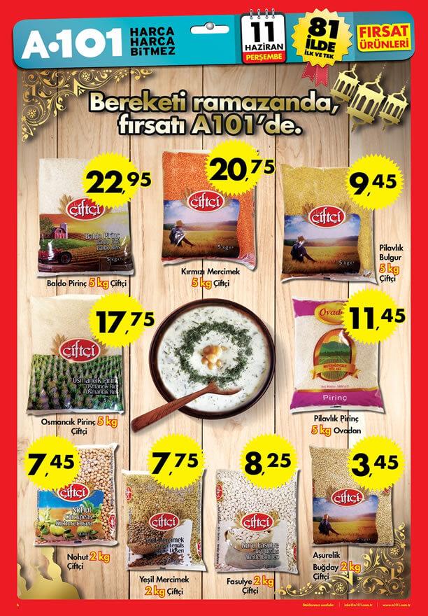 A101 11 Haziran 2015 Fırsat Ürünleri Katalogu - Çiftçi Bakliyat