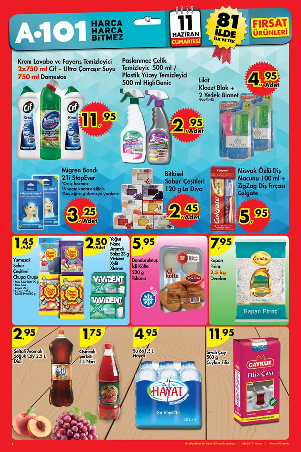 A101 11 Haziran 2016 Aktüel Ürünler Katalogu