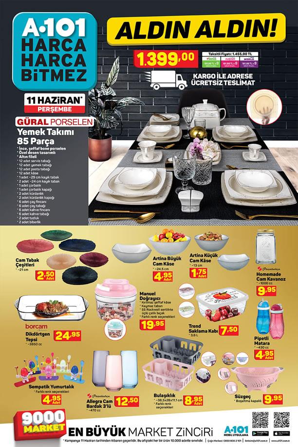A101 11 Haziran Kataloğu - 85 Parça Güral Porselen Yemek Takımı