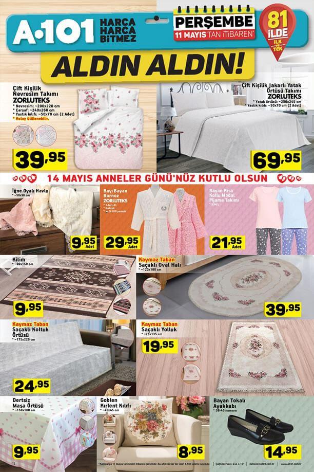 A101 11 Mayıs 2017 Katalogu - Ev Tekstili