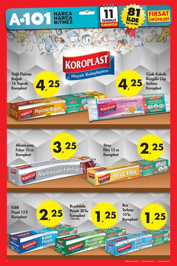 A101 11 Temmuz 2015 Aktüel Ürünler - Koroplast
