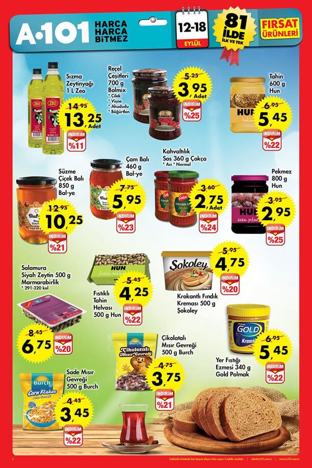 A101 12-18 Eylül 2016 Fırsat Ürünleri Katalogu - Kahvaltılık Ürünler