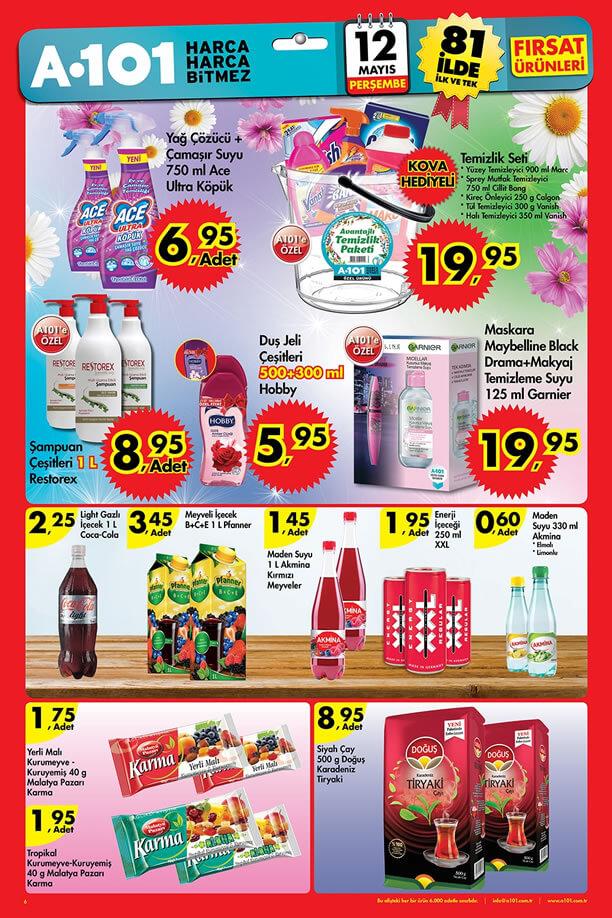 A101 12-18 Mayıs 2016 Fırsatları Katalogu - Temizlik Seti