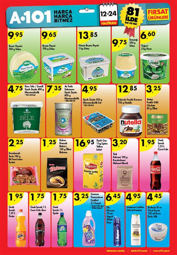 A101 12-24 Haziran 2015 Fırsat Ürünleri Katalogu