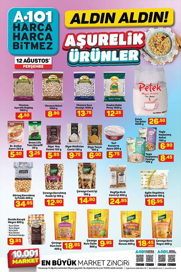 A101 12 Ağustos 2021 Aşurelik Ürünler Kataloğu