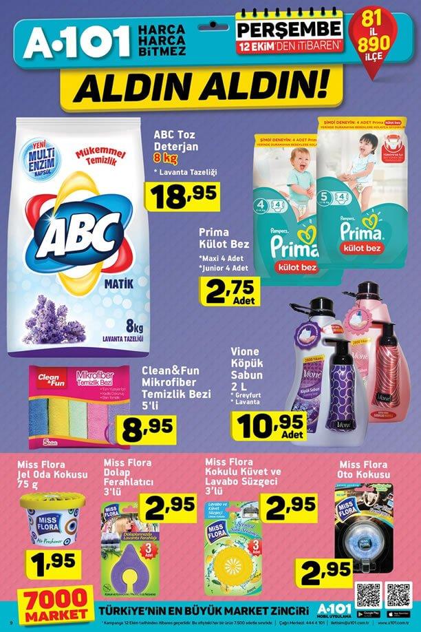 A101 12 Ekim 2017 İndirimleri ABC Toz Deterjan