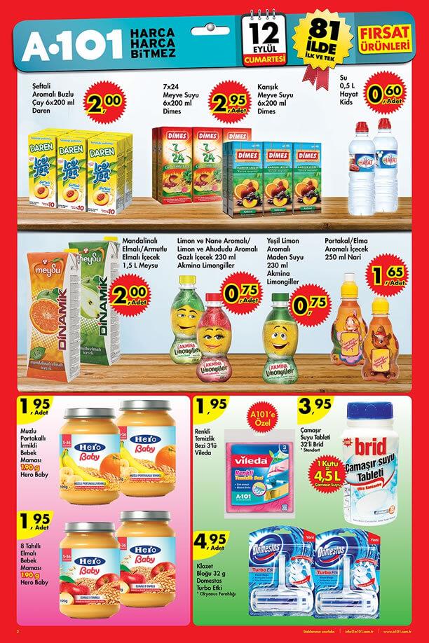 A101 12 Eylül 2015 Aktüel Ürünler Katalogu
