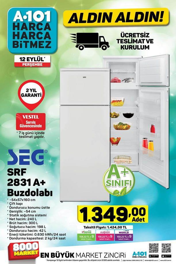 A101 12 Eylül 2019 Perşembe Kataloğu - SEG Buzdolabı