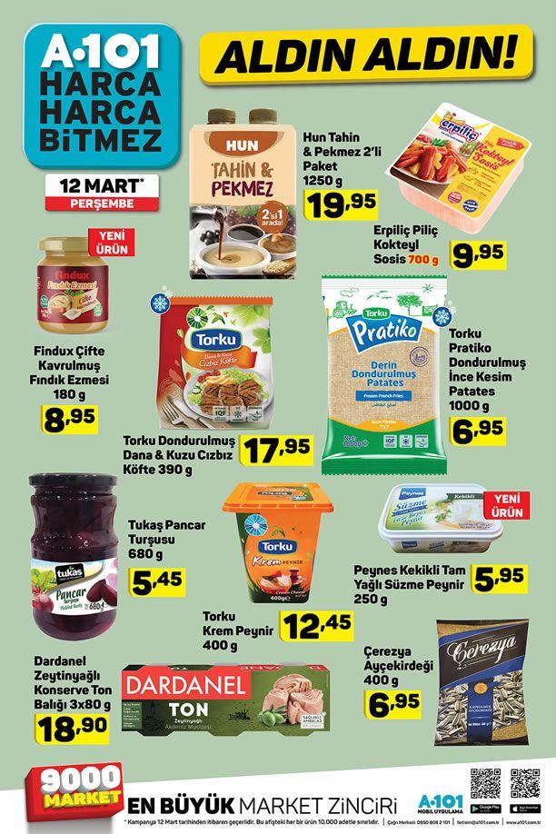 A101 12 Mart - 18 Mart 2020 İndirimli Ürünler Kataloğu