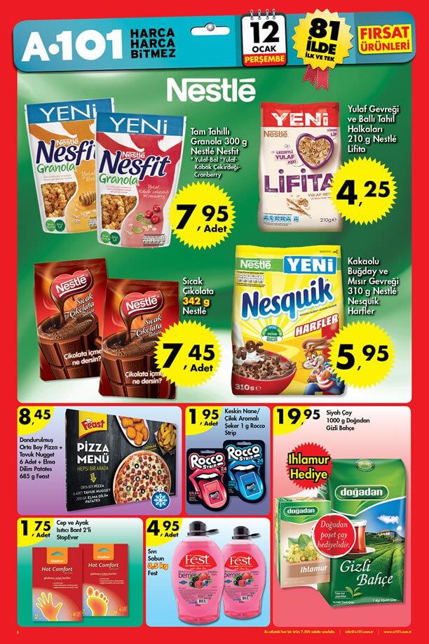 A101 12 Ocak 2017 Fırsat Ürünleri Katalogu - Nestle