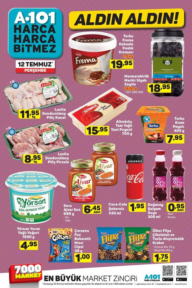 A101 12 Temmuz 2018 Fırsat Ürünleri Katalogu