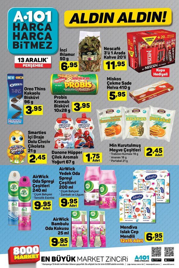 A101 13 Aralık 2018 Fırsat Ürünleri Kataloğu