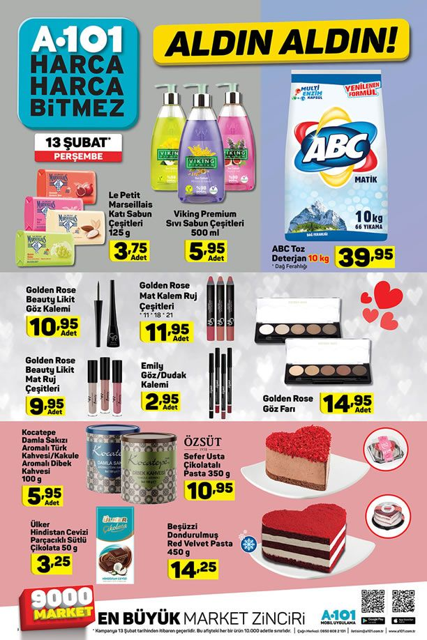 A101 13 Şubat 2020 İndirimli Ürünler Kataloğu