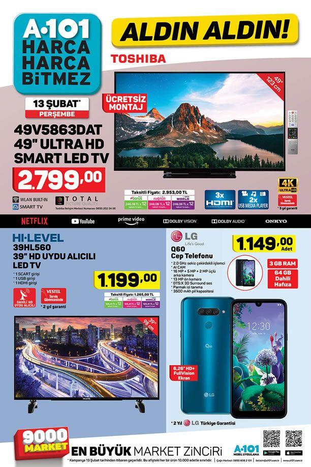 A101 13 Şubat 2020 Kataloğu - LG Q60 Cep Telefonu