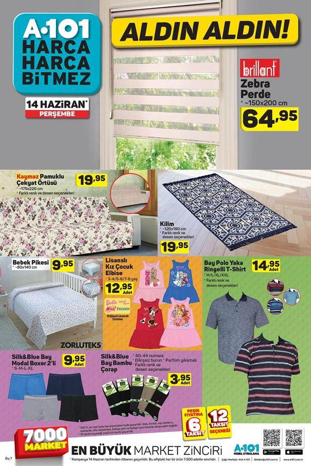 A101 14 - 20 Haziran 2018 Katalogu - Brillant Zebra Perde