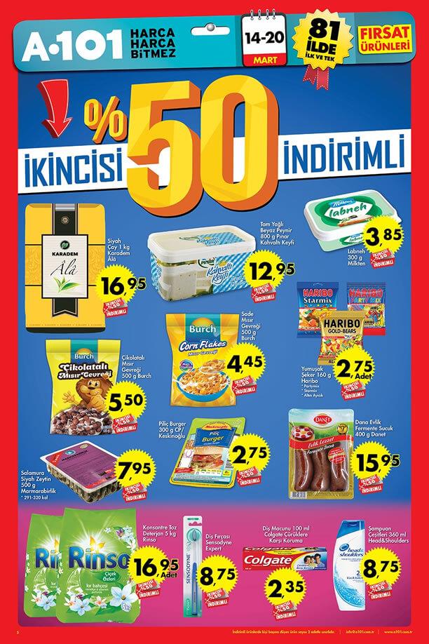 A101 14-20 Mart 2016 Fırsat Ürünleri Katalogu - %50 İndirim Kampanyası