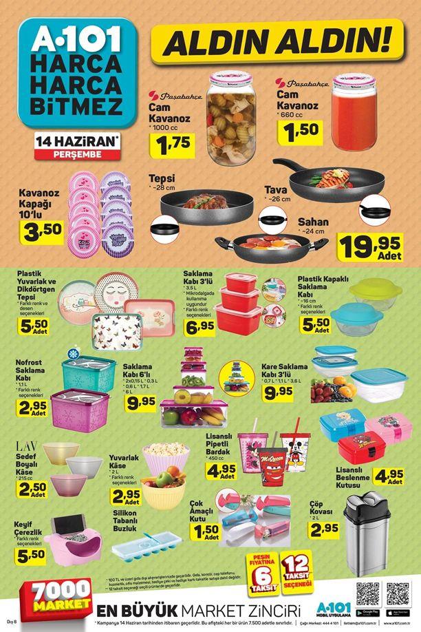 A101 14 Haziran 2018 Perşembe Katalogu - Mutfak Gereçleri