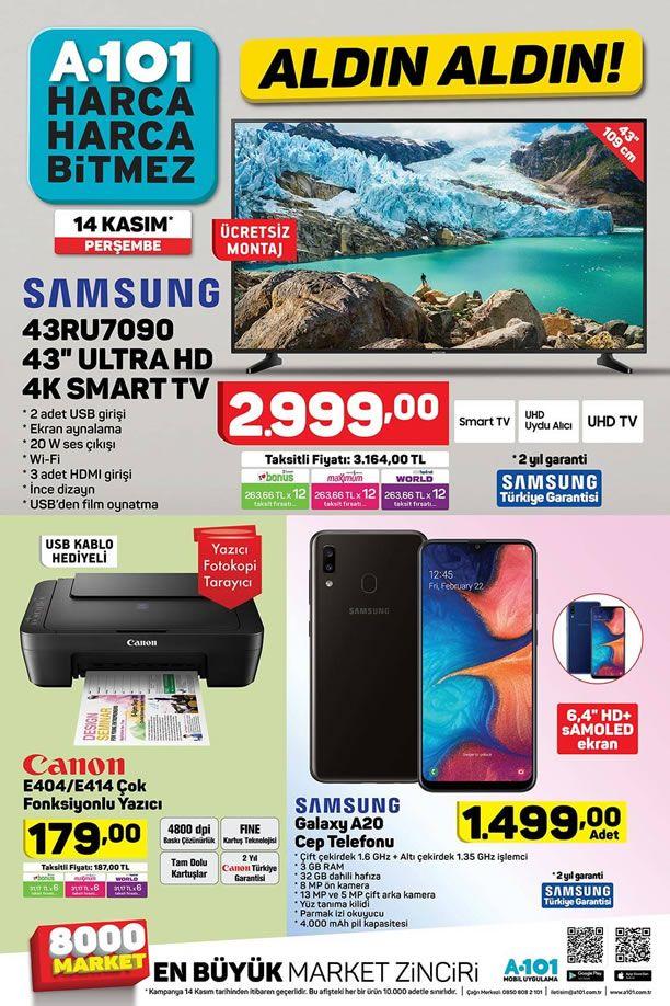 A101 14 Kasım 2019 Kataloğu - Samsung Galaxy A20 Cep Telefonu
