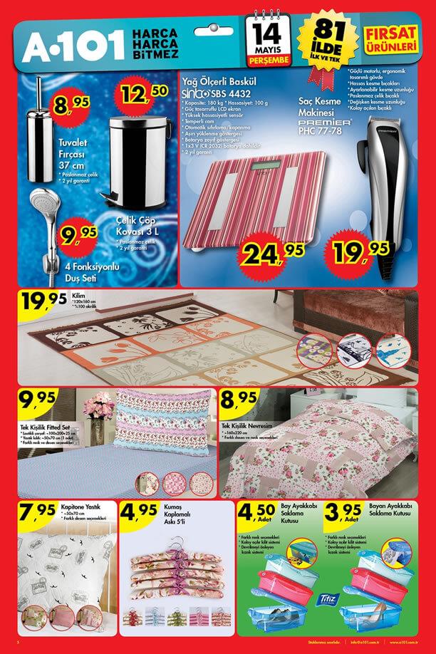 A101 14 Mayıs 2015 Aktüel Ürünler Katalogu - Ev Ürünleri