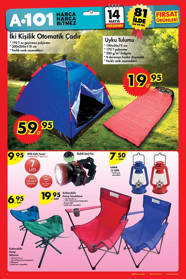 A101 14 Mayıs 2015 Fırsat Ürünleri Katalogu - Kamp Malzemeleri