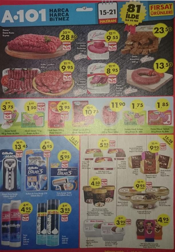 A101 15 - 21 Haziran 2015 Aktüel Ürünler Katalogu