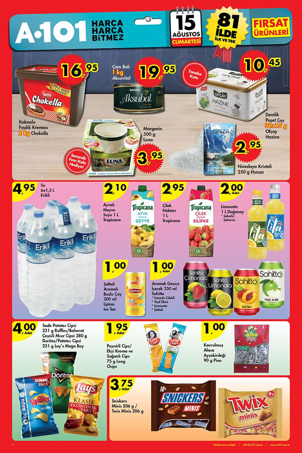 A101 15 Ağustos 2015 Aktüel Ürünler Katalogu