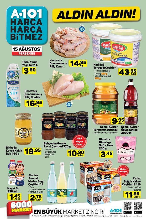 A101 15 Ağustos 2019 Perşembe Fırsat Ürünleri Kataloğu