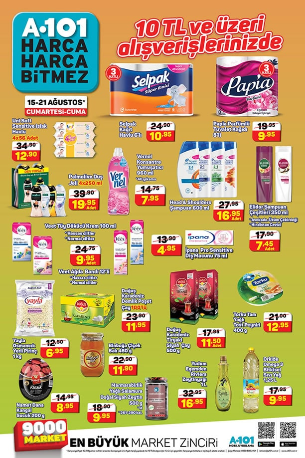 A101 15 Ağustos - 21 Ağustos 2020 İndirimli Ürünler Kataloğu