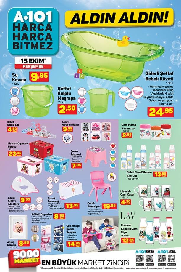 A101 15 Ekim 2020 Bebek Ürünleri Kataloğu