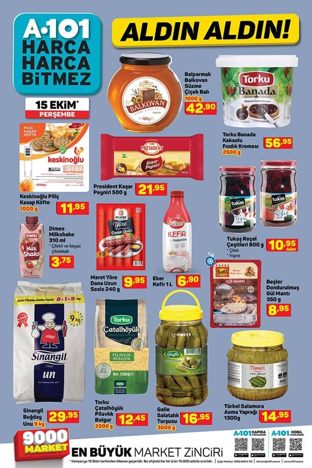 A101 15 Ekim 2020 İndirimli Ürünler Kataloğu